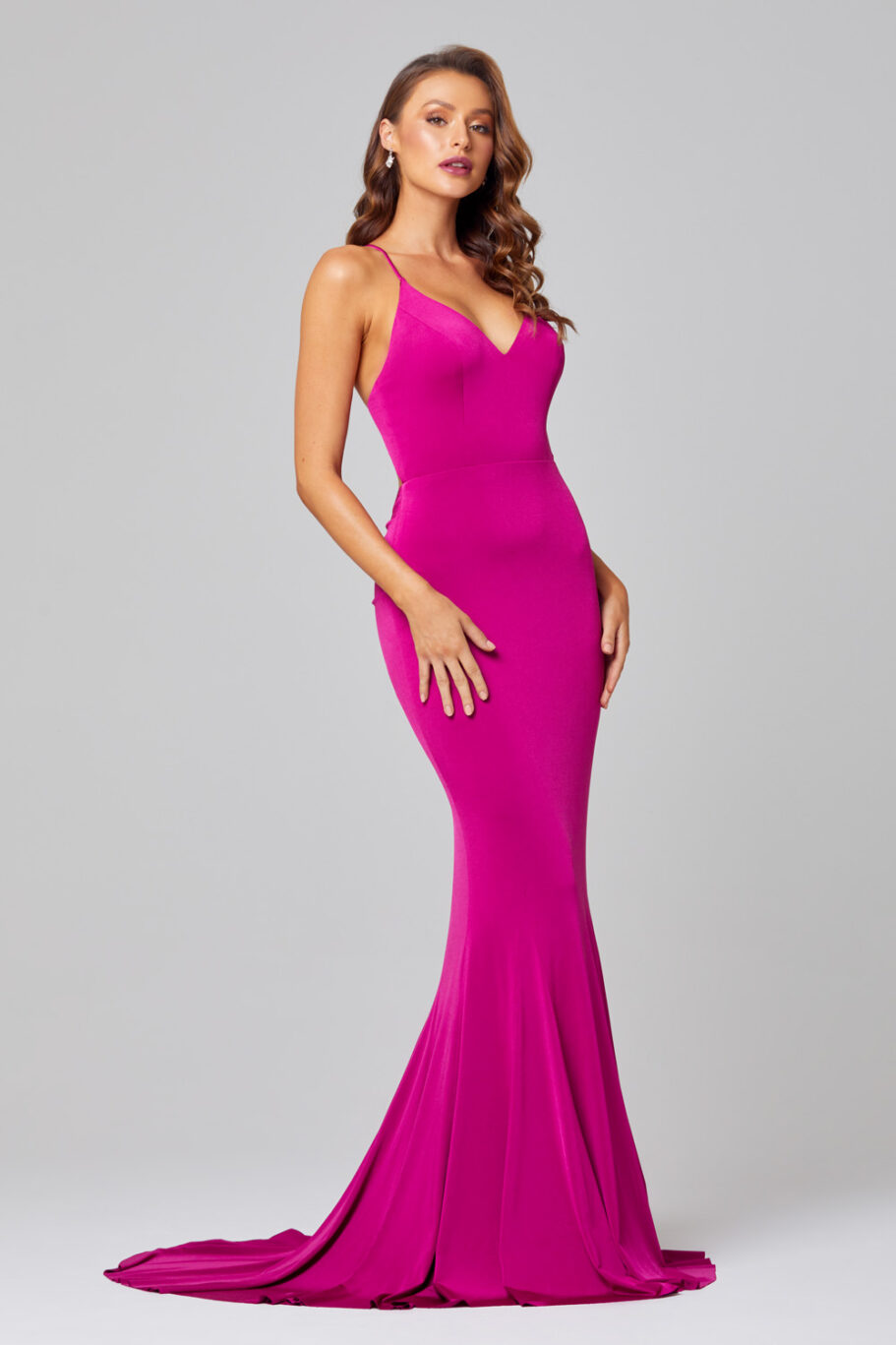 Erika Fitted Mermaid Evening Dress - PO885 side