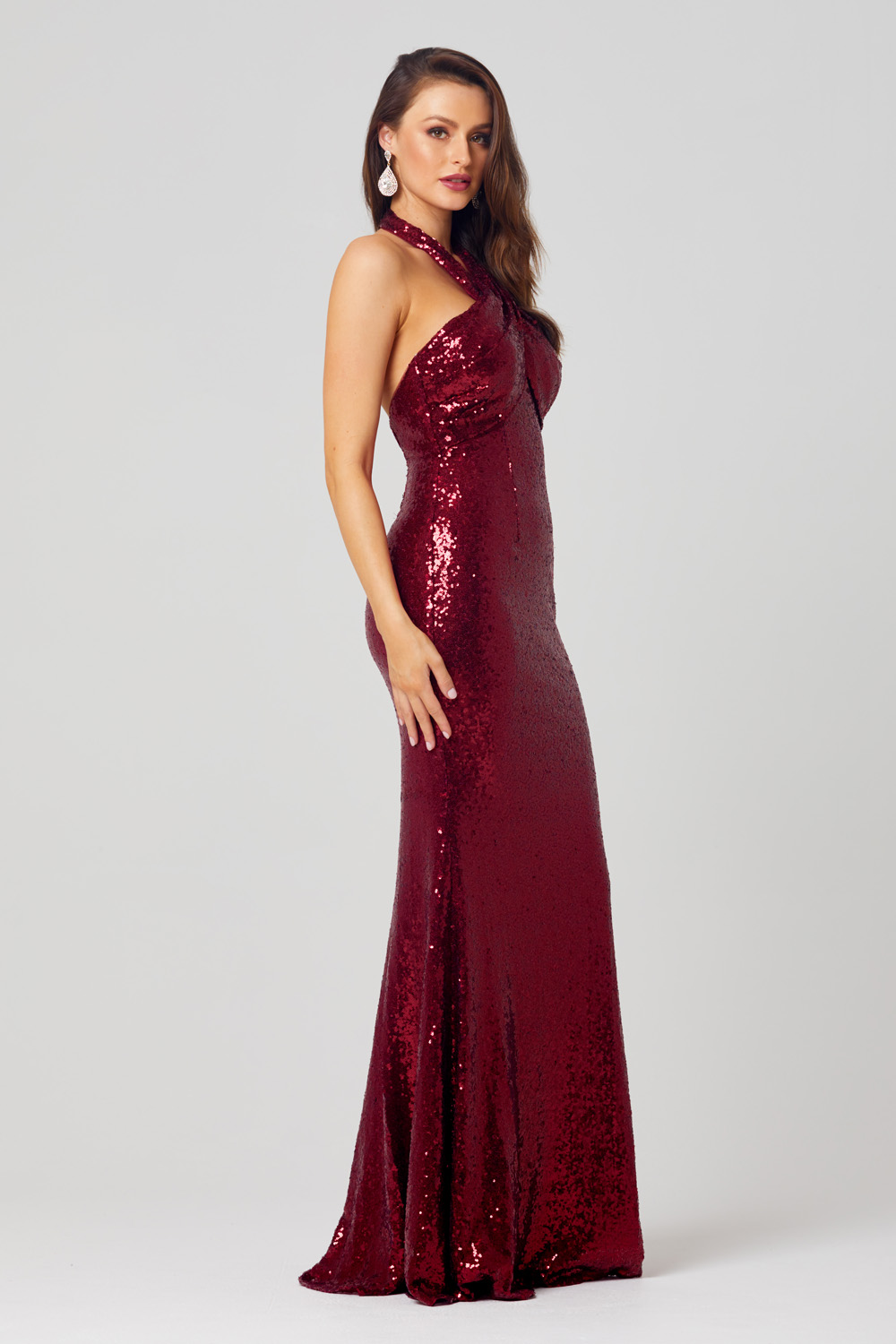 Kimmy Sequin Halter Formal Dress - PO820 side