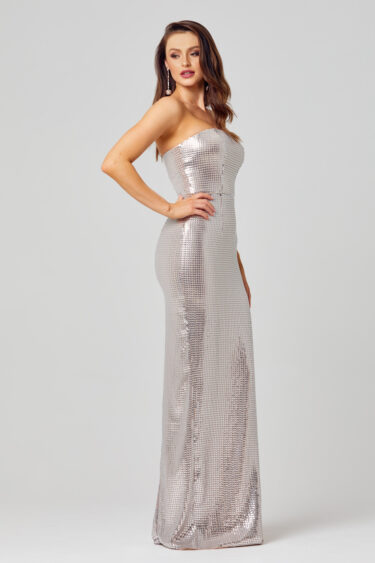 Lexi Strapless Sequin Formal Dress - PO823 side