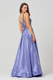 Mieka Floral Embroidered Prom Dress - PO879 back