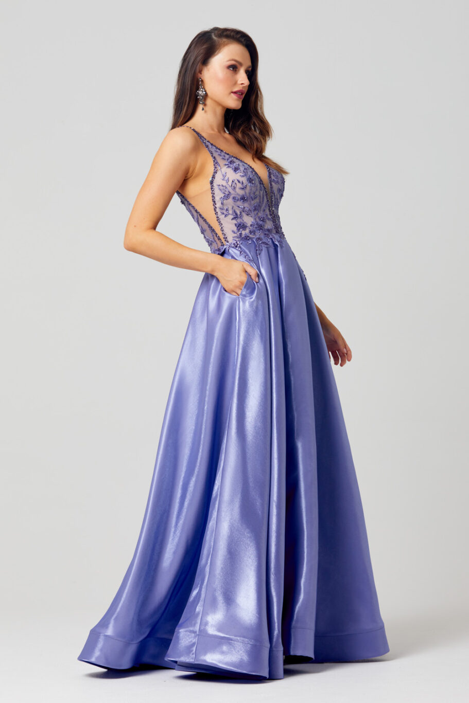 Mieka Floral Embroidered Prom Dress - PO879 side