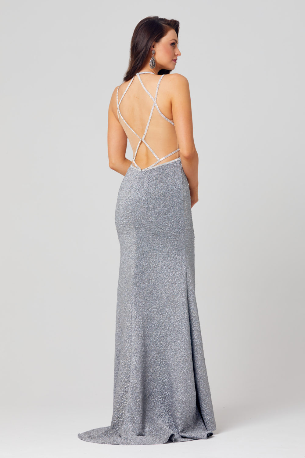 Noemi Fitted Formal Dress - PO868-Back