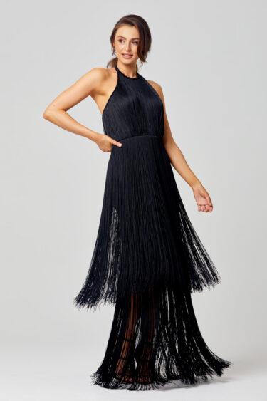 Octavia 20's Inspired Fringe Evening Dress PO833