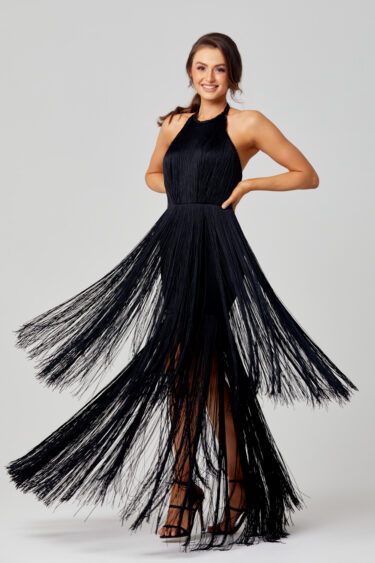 Octavia 20's Inspired Fringe Evening Dress PO833 swing
