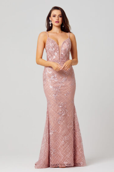 Reina Embroidered Evening Dress - TC269
