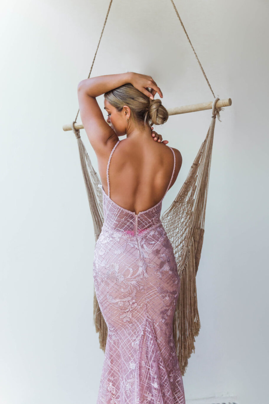 Reina Embroidered Evening Dress - TC269 - Back - Mexico