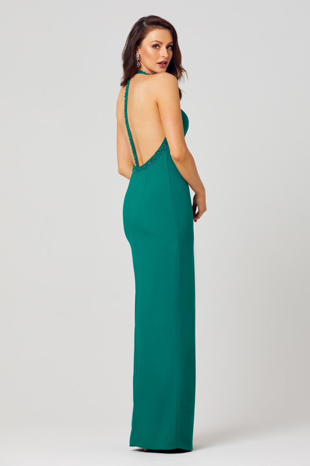 Tessa Beaded Halterneck Formal Dress - PO814 back