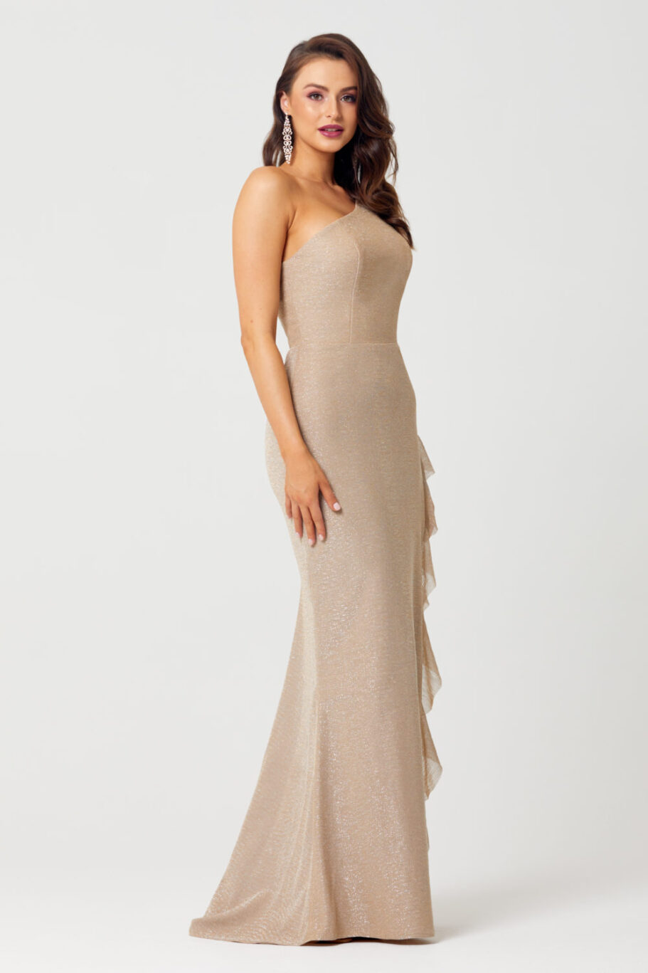 The Corinne One Shoulder Evening Dress - TC279-Side