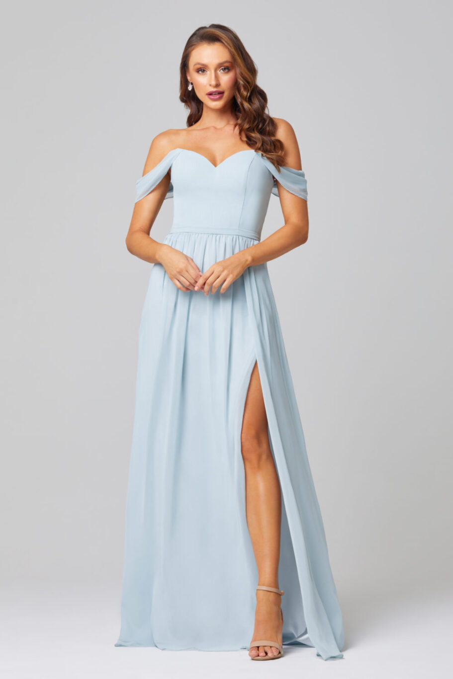 TO849-NATALIE BRIDESMAID DRESS -DUCK EGG