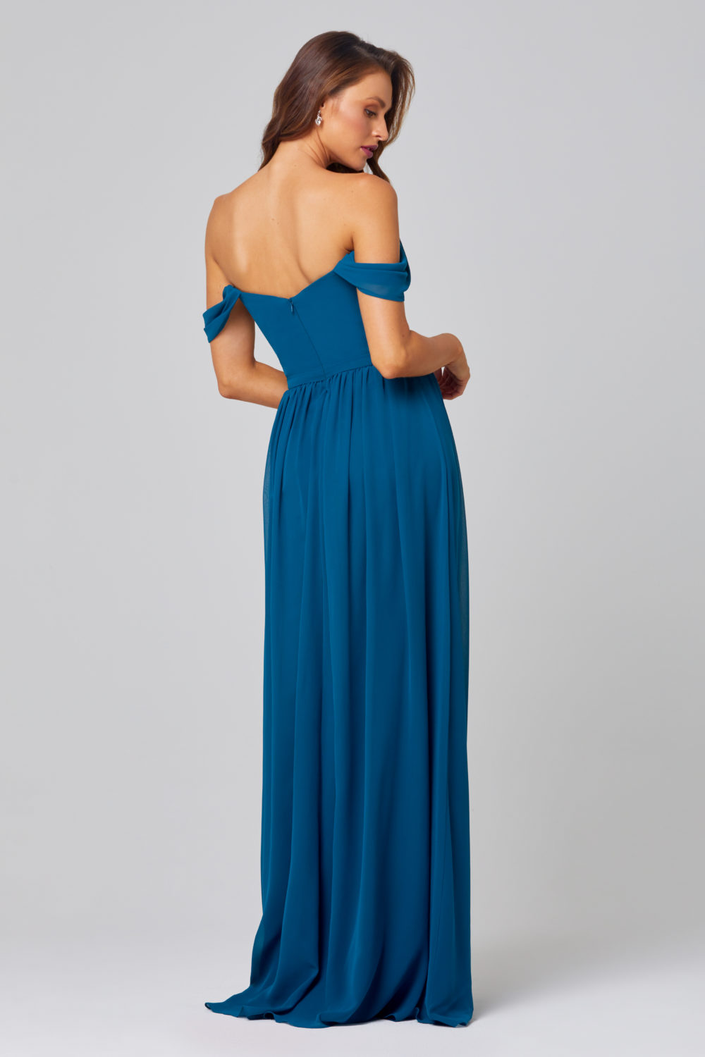TO849-NATALIE BRIDESMAID DRESS -TEAL-BACK