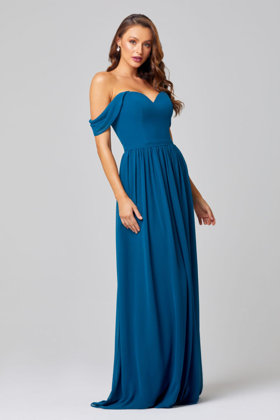 TO849- NATALIE BRIDESMAID DRESS -TEAL-SIDE