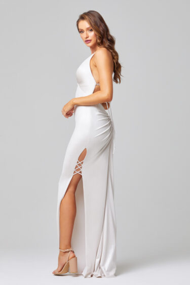 Alana Cross Leg Formal Dress - PO889 Side
