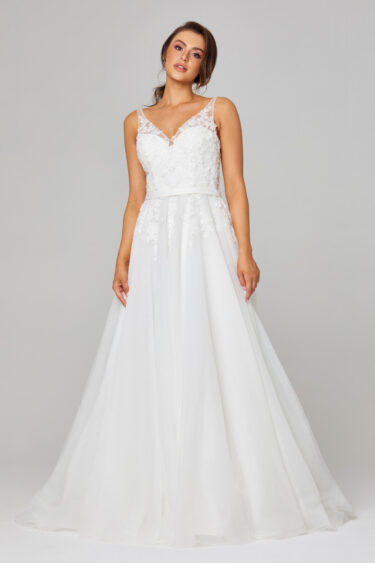 Cara Illusion Lace Wedding Dress - TC305