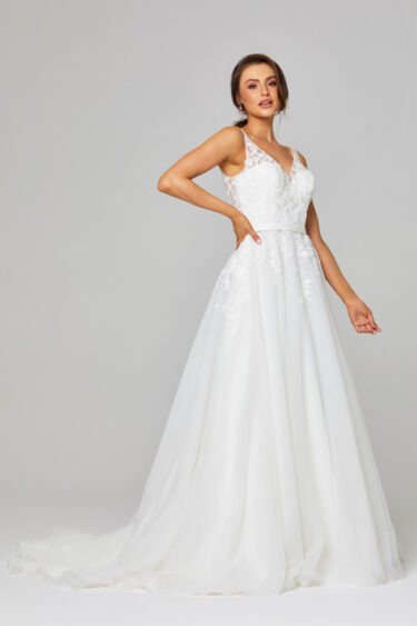 Cara Illusion Lace Wedding Dress - TC305 side