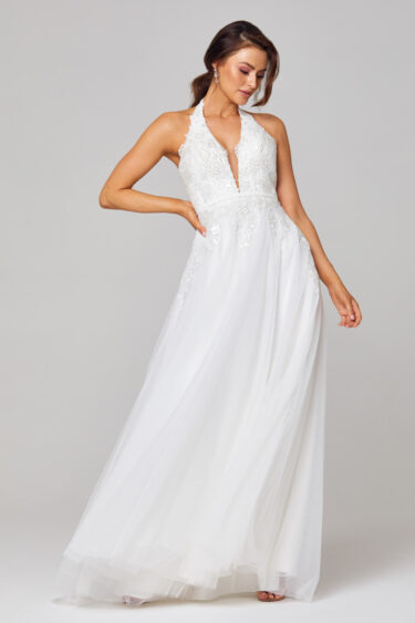 Daphne Plunging Halterneck Wedding Dress - TC266