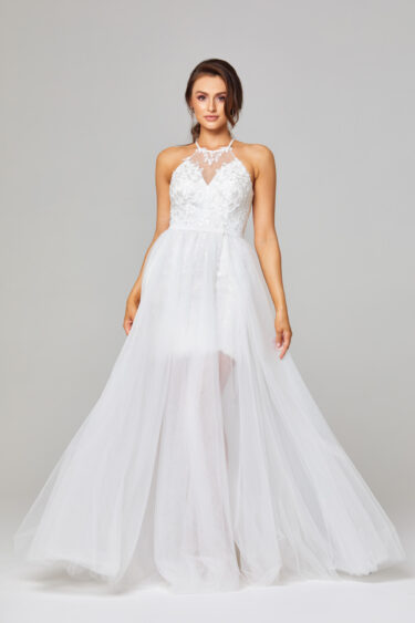 Hazel Illusion Halterneck Wedding Dress - TC271
