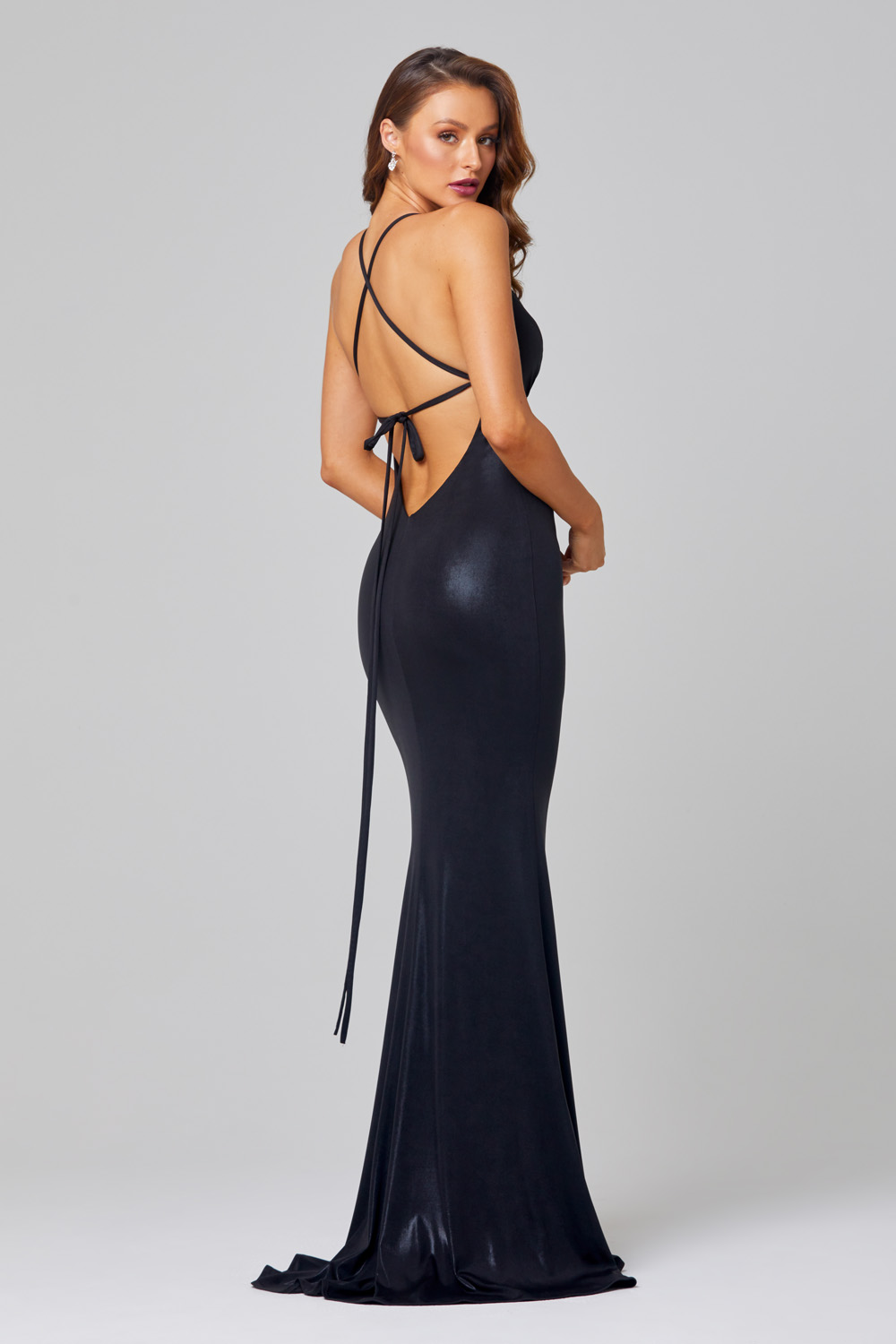 Kian Lace up Back Formal Dress - PO887 Back