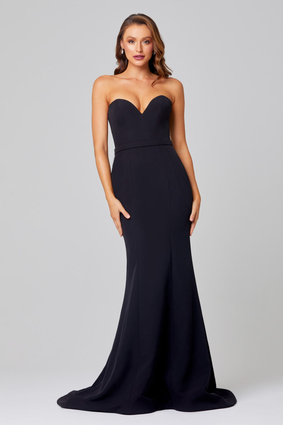 Lacie Strapless Mermaid Evening Dress -PO886 Front