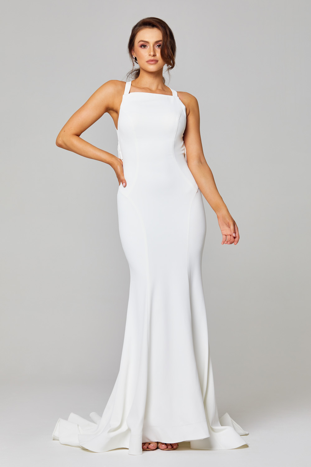 Monique Strappy Cowl Wedding Dress - TC285