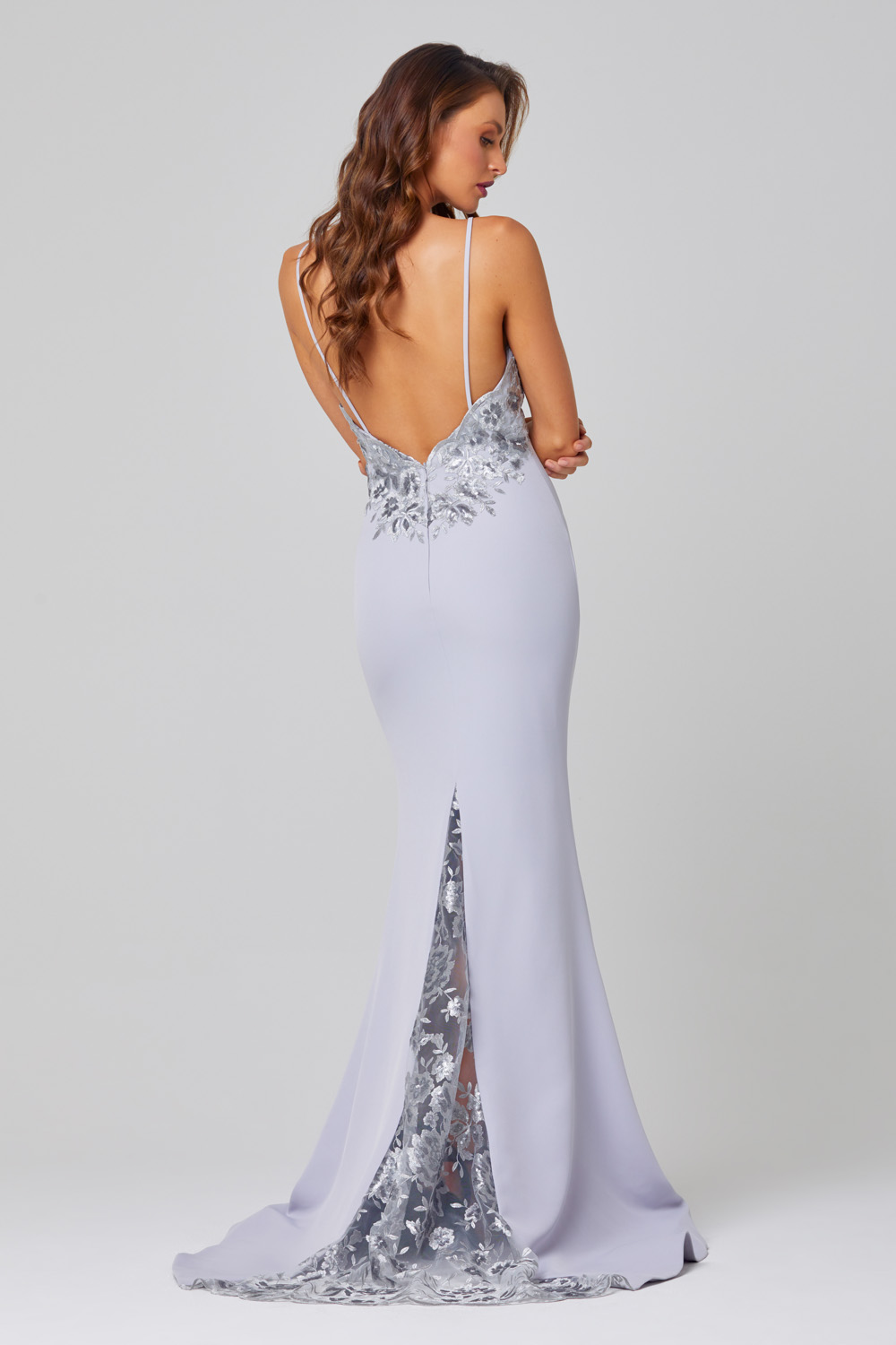 Pippa Low Back Sequin Lace Formal Dress - PO888 back