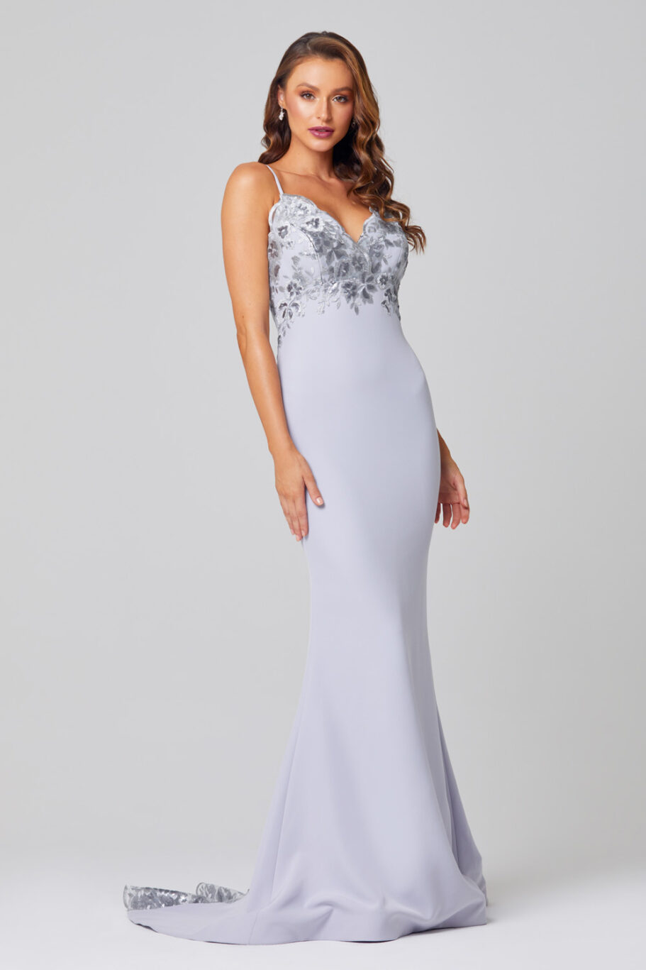 Pippa Low Back Sequin Lace Formal Dress -PO888 side