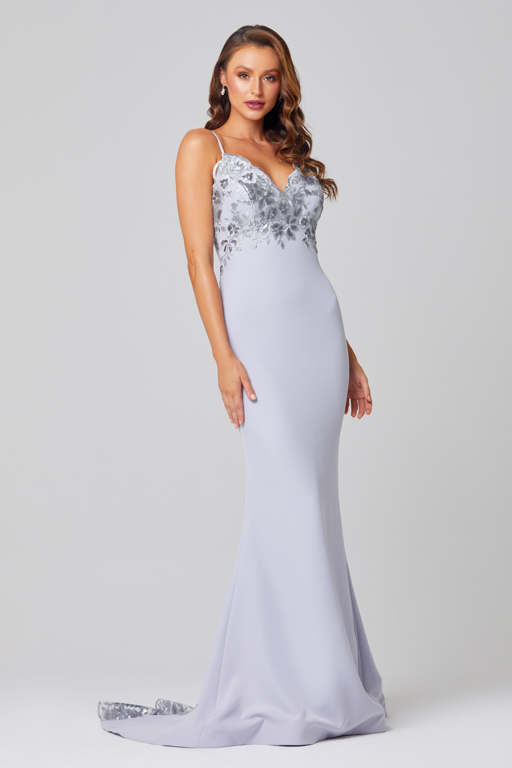 Pippa Low Back Sequin Lace Formal Dress - PO888 side
