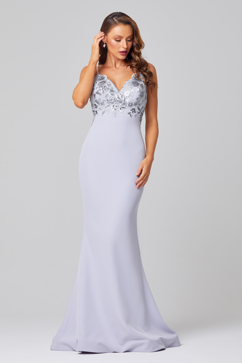 Pippa Low Back Sequin Lace Formal Dress - PO888