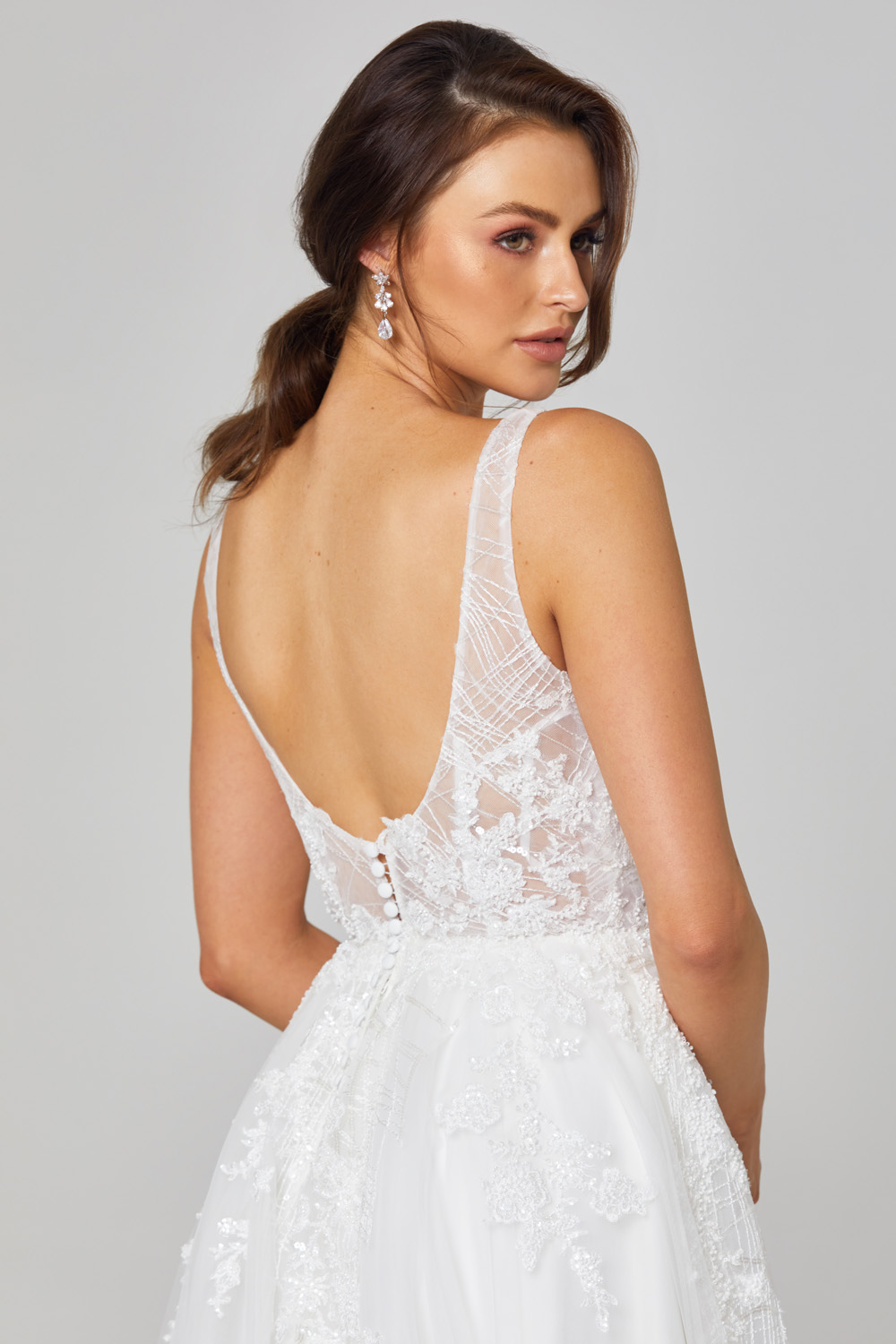 Rosie A-Line Lace Wedding Dress - TC292 close up back