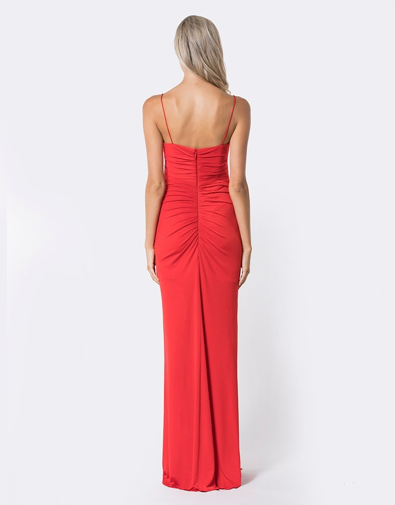 Bariano red sofia formal dress