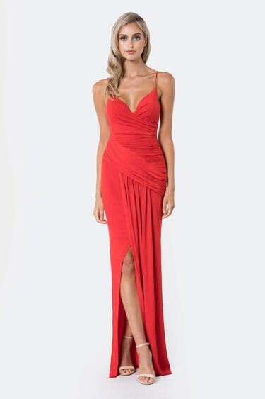 BARIANO Sofia red formal dress