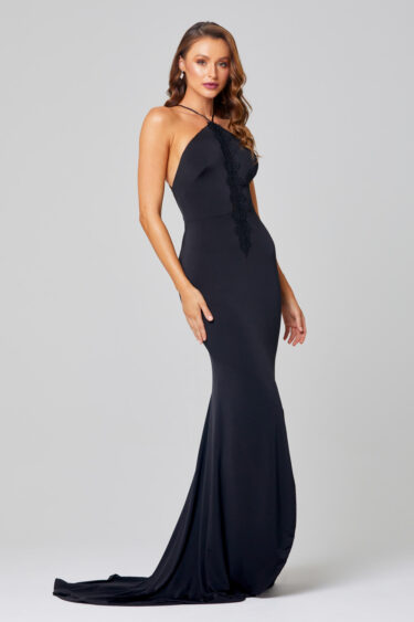 Josie Slinky Halter Formal Dress - PO890 Side