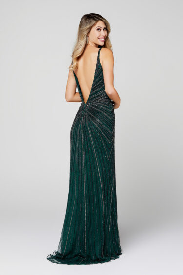 Primavera 3459 Low Back Evening Dress back