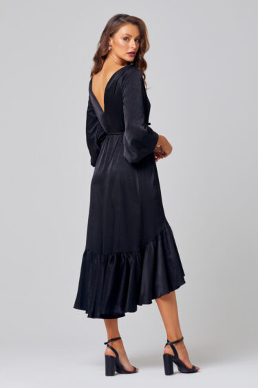 Allie Midi Ruffle Hem Bridesmaid Dress - TO852 Back
