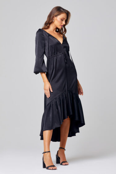Allie Midi Ruffle Hem Bridesmaid Dress - TO852 Side