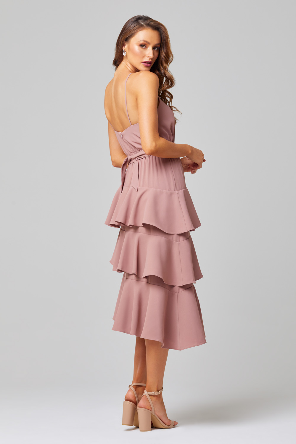 Ariel Tiered Ruffle Bridesmaid Dress - TO851 back