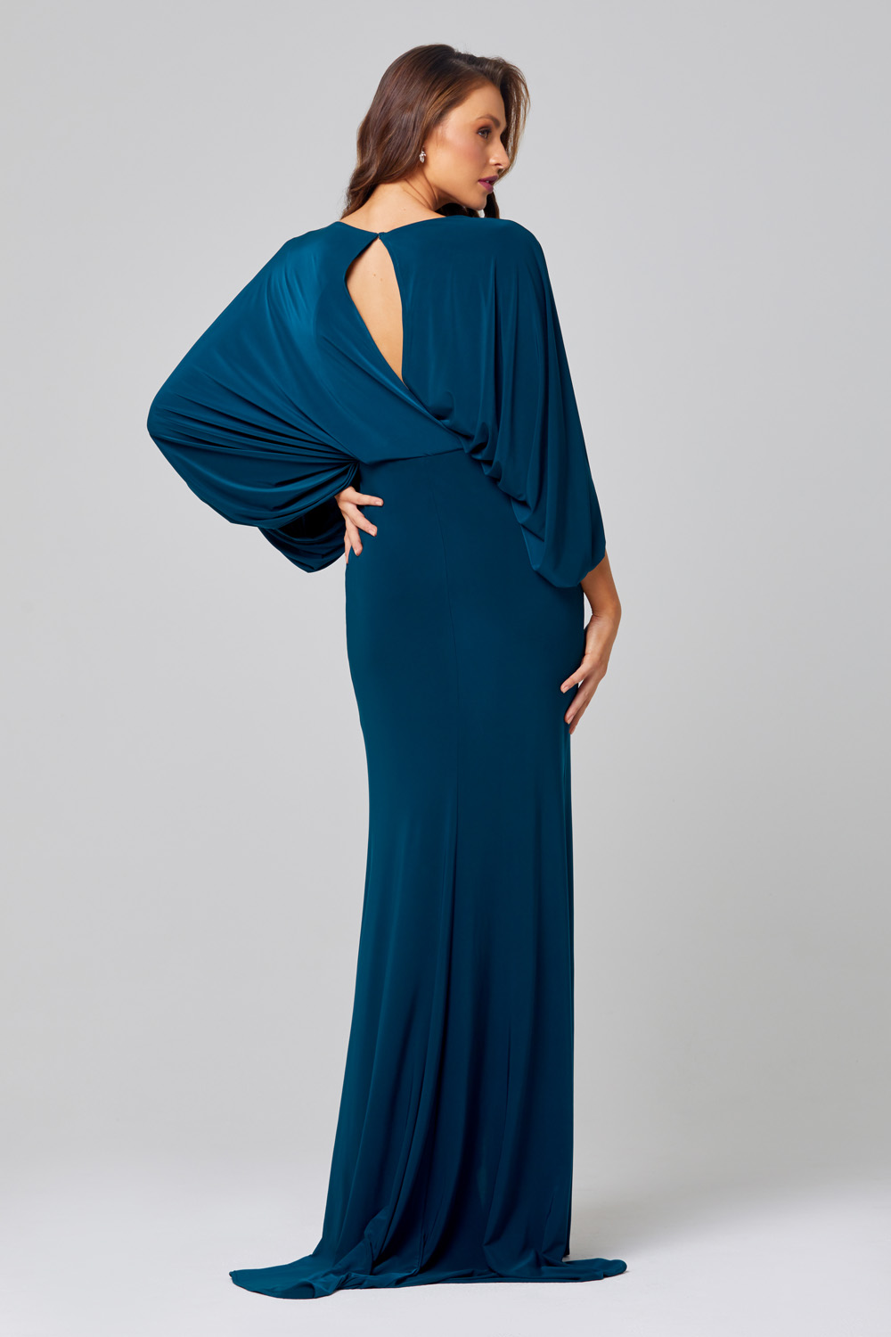 Cleo Cape Sleeve Bridesmaid Dress – TO845 back
