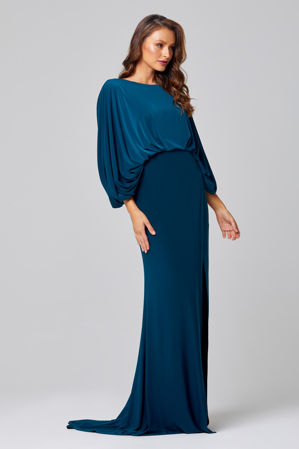 Cleo Cape Sleeve Bridesmaid Dress – TO845 Side
