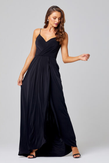 Ebonie Cowl Back Bridesmaid Dress – TO847 front