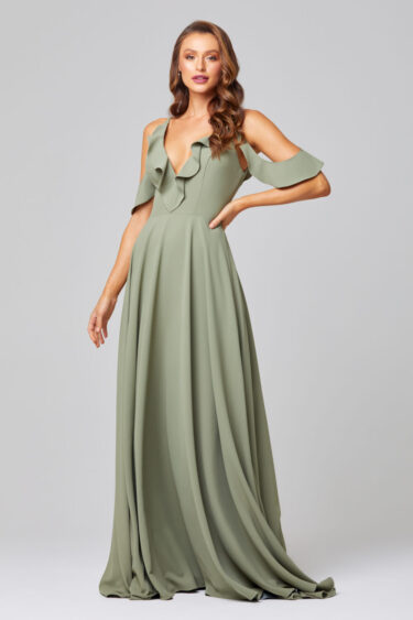 ISOBEL OFF SHOULDER BRIDESMAID DRESS - TO855 SAGE (1)