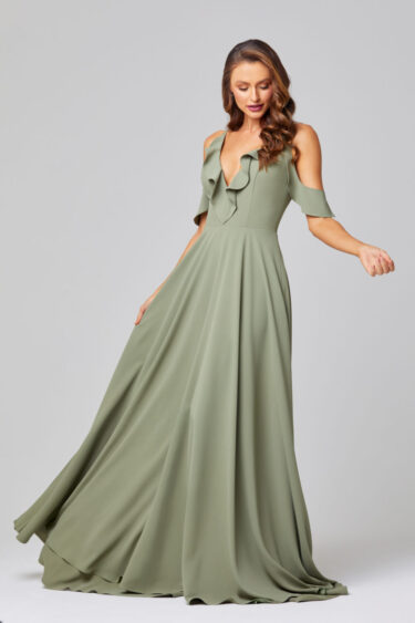 ISOBEL OFF SHOULDER BRIDESMAID DRESS - TO855 SAGE