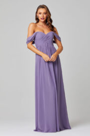 Lucy Off Shoulder Bridesmaid Dress - TO838-LAVENDER