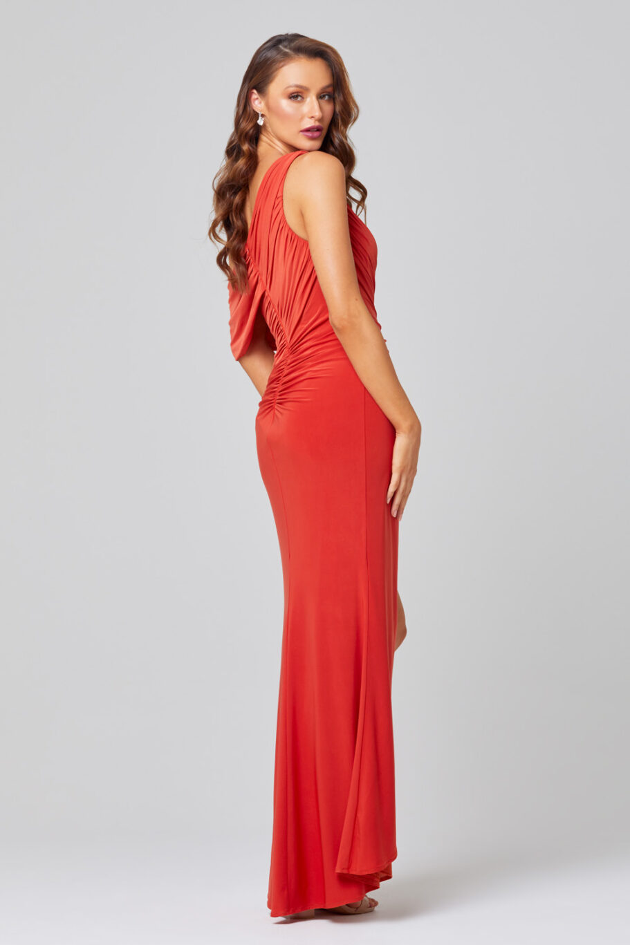 Polly One Shoulder Bridesmaid Dress – TO846 Back