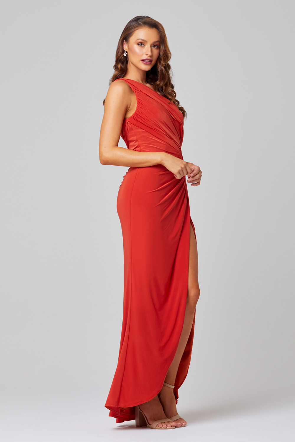 Polly One Shoulder Bridesmaid Dress – TO846 Side