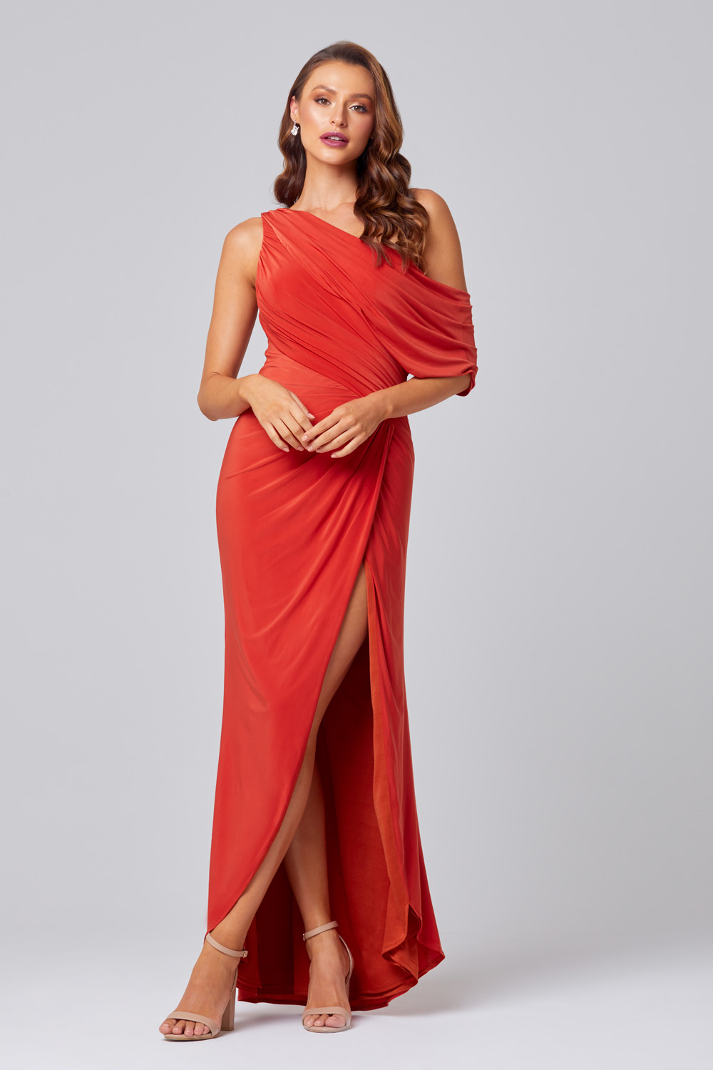 Polly One Shoulder Bridesmaid Dress – TO846