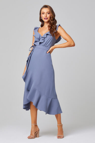Thea Self-Tie Midi Bridesmaid Dress - TO855