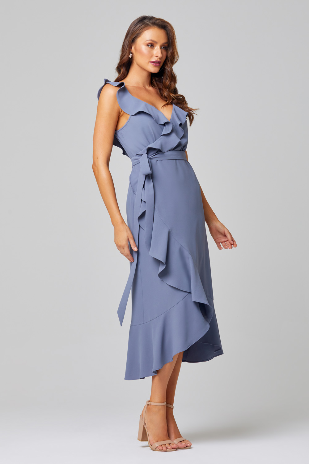 Thea Self-Tie Midi Bridesmaid Dress - TO855 Side