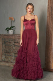 Abby A-line Evening Gown - PO847