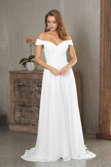 Anabelle Off Shoulder Wedding Dress - TC323