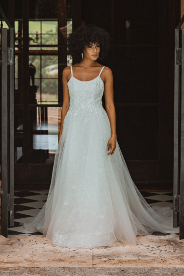 TC332 SWAN sequin aline wedding dress