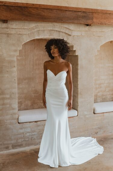 TC343-SEATTLE vintage white wedding dress